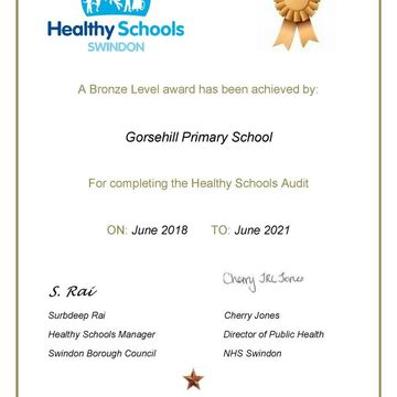 Bronze Award Gorsehill Primary 1180X1669