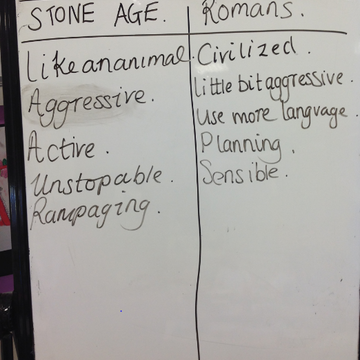 Comparison between Stone Aged and Roman Schools